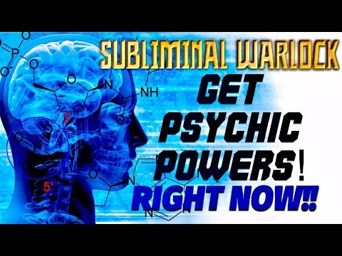 GET PSYCHIC POWERS RIGHT NOW!! BINAURAL BEATS - SUBLIMINAL AFFIRMATIONS WARLOCK