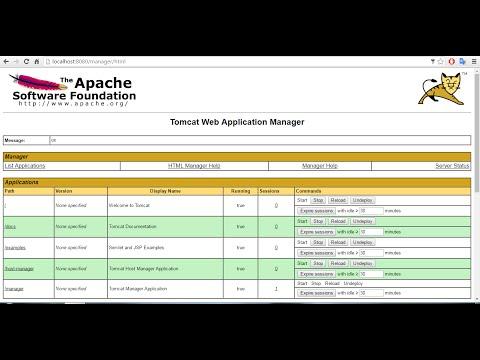 Install Apache Tomcat server on Windows and run sample java application
