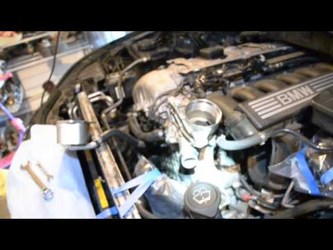 BMW E60 oil filter housing removal to fix oil leak - tips