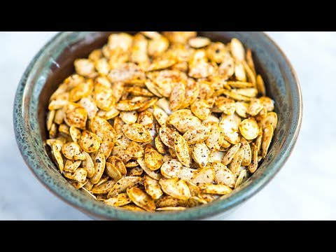 Easy Roasted Pumpkin Seeds Recipe - How to Roast Raw Pumpkin Seeds