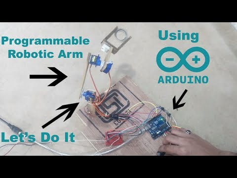 How To Make Programmable Robotic Arm | Easy |