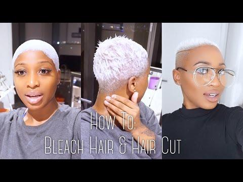 BLEACHING MY HAIR TO WHITE / SILVER GREY & GETTING A HAIRCUT