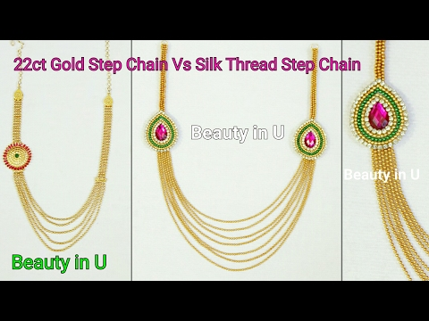 How to make Paper/Silk Thread Bridal Step Chain at Home|Tutorial|Models at www.beautyinustores.com |
