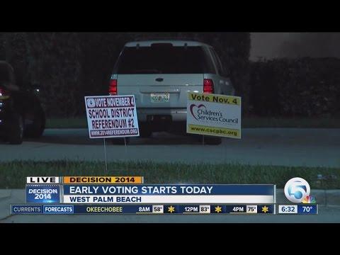 Early voting begins today in PBC, Treasure Coast