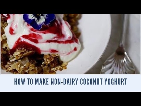 How to make non-dairy coconut yoghurt from Emu Creek Farm course using Green Living Culture