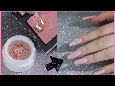 Putting MAKEUP on my nails!