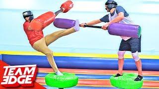 Blindfold Jousting Challenge!!