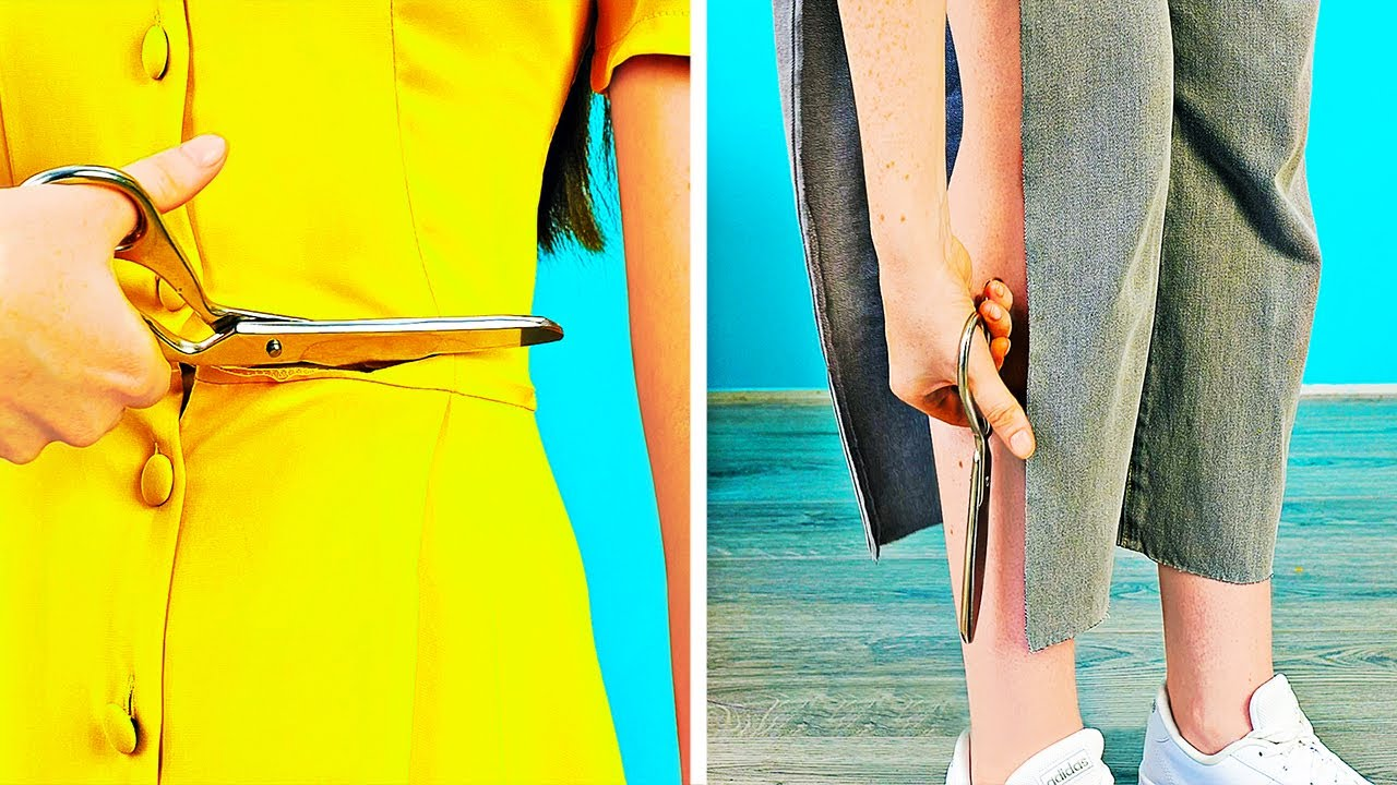 Turn Your Old Clothes Into Something New With One Cut    DIY Clothes Upgrade Ideas