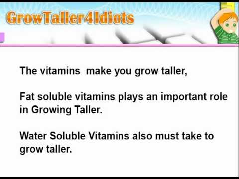The  Role of Water Soluble Vitamins in Growing Taller