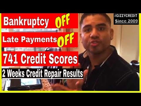 Credit Repair: 741 Fico Scores after Late Payments off, Bankruptcy off in 2 weeks=RESULTS