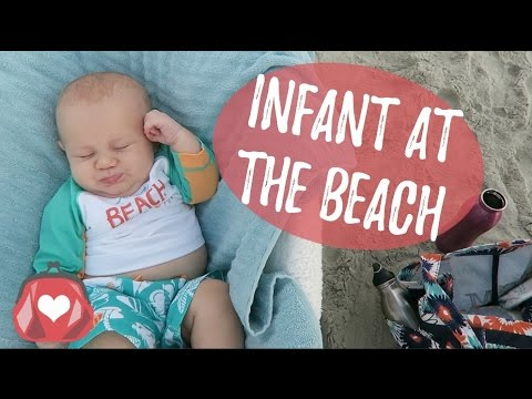 VLOG | Infant at the beach!