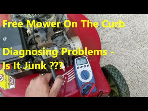 NO SPARK ?!!? Testing Mower Engine Coil How To: No Start Diagnosis