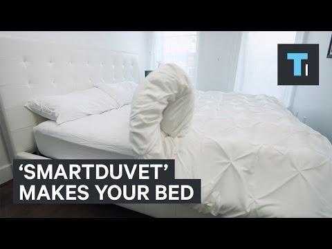 Smartduvet blanket duvet cover makes bed