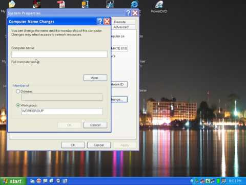 How to change PC's name in windows XP