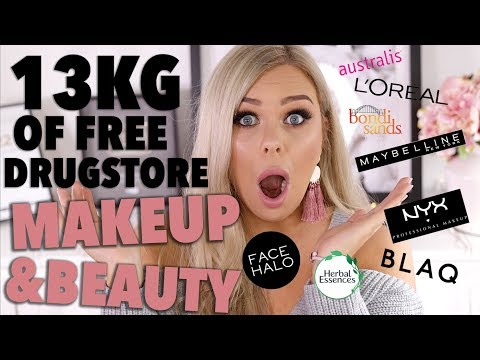 13KG OF FREE DRUGSTORE MAKEUP & BEAUTY?!