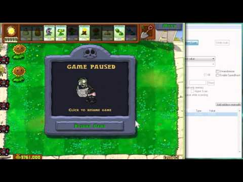 Infinite Sun and Instant Cooldown Hack in Plants Vs Zombies