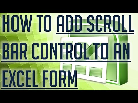 [Free Excel Tutorial] HOW TO ADD SCROLL BAR CONTROL TO AN EXCEL FORM - Full HD