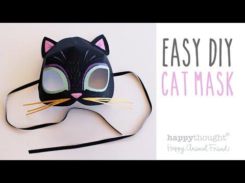 Printable cat mask template + photo tutorial!