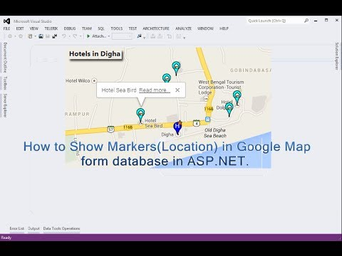 How to Show Markers(Location) in Google Map dynamically form database in ASP.NET.