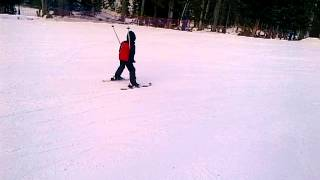 Dani esquiando en Ruidoso