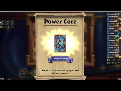 Hearthstone  - Behold The Power Core Card Back -  AMAZING