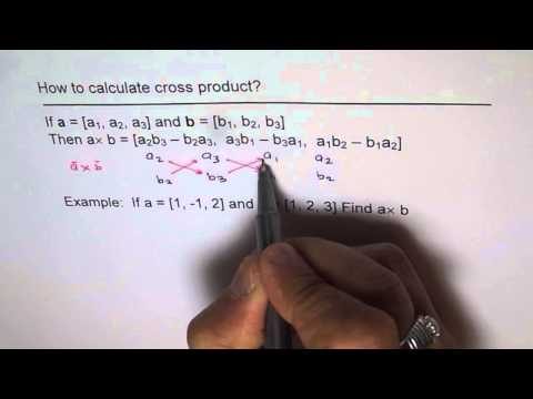 How To Calculate Cross Product of Vectors