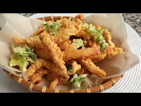 Fried dried squid (Ojingeo-twigim: 오징어튀김)