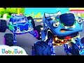 Police Truck Chases Bad Guy Police Cartoon Nursery Rhymes Kids Songs Color Song BabyBus