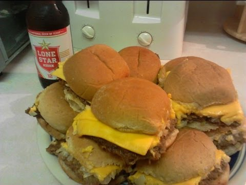 How to Make Imitation White Castle Burgers