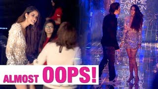 Tiger Shroff saves girlfriend Disha Patani from an embarrassing moment at LFW