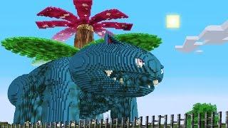 Minecraft Vs Pokemon Go | Giga Venusaur!! | (pvz/pokego Land)