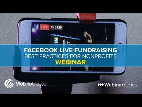 Facebook Live Fundraising Best Practices for Nonprofits Webinar