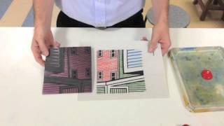 Reductive Printmaking (linocut 4 Colour   White)