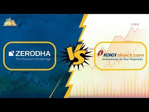 Zerodha Vs ICICI Direct - Stock Brokers Comparison