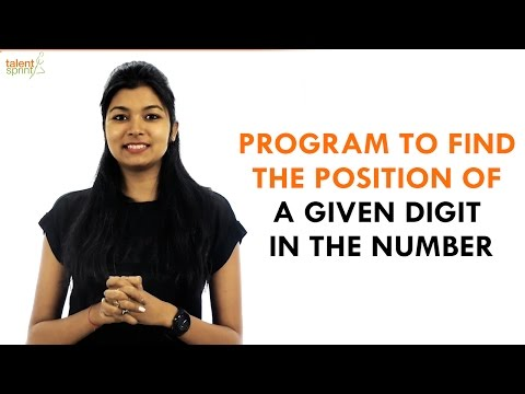 Program to find the position of a Digit in the Number | Java Programming | TalentSprint