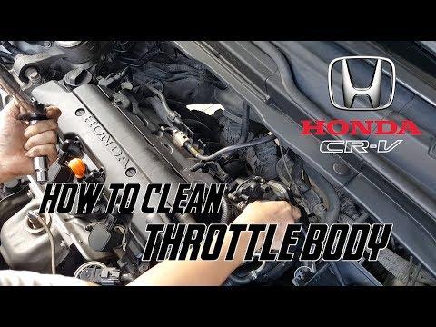 How To Clean Throttle Body Honda CRV 2007 - 2010