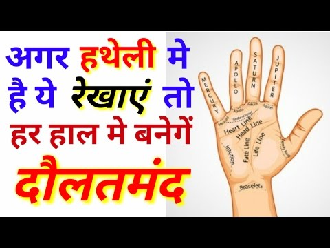 करोड़पति योग in hast rekha !! Palmistry reading in Hindi !! Hand reading !! Hast Rekha gyan in hindi