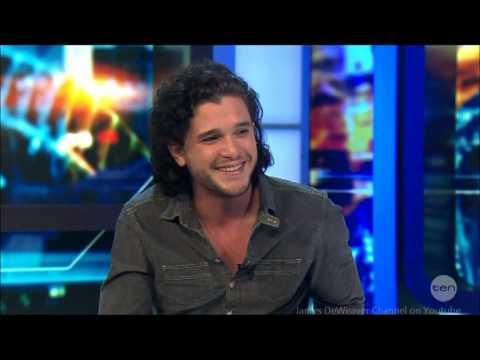 Kit Harington - Pompeii & Game of Thrones Jon Snow LIVE Australian Tv Interview 5-3-2014