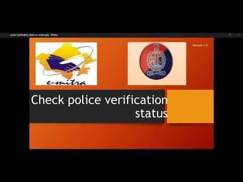 Police verification status check and tenant verification status check sso or emitra portal