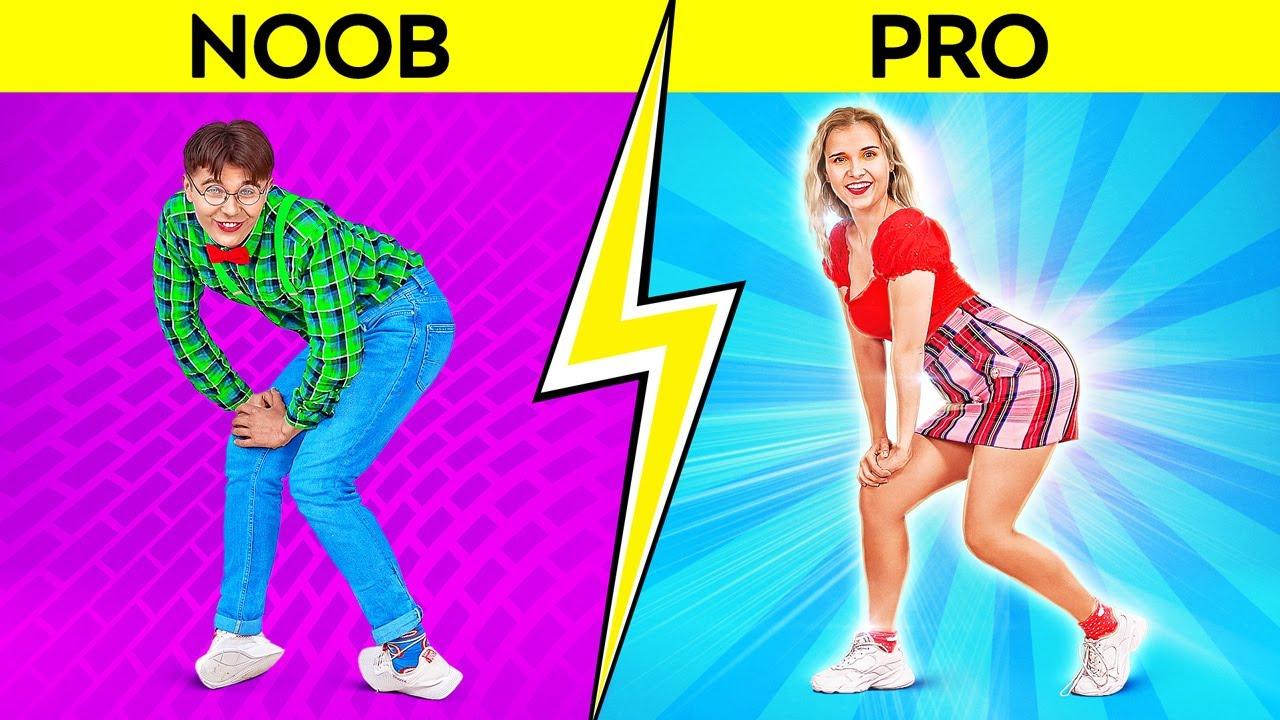 DANCE CHALLENGE || How To Be Popular! TikTok Practice! Trending Moves in Real Life by 123 GO! SCHOOL