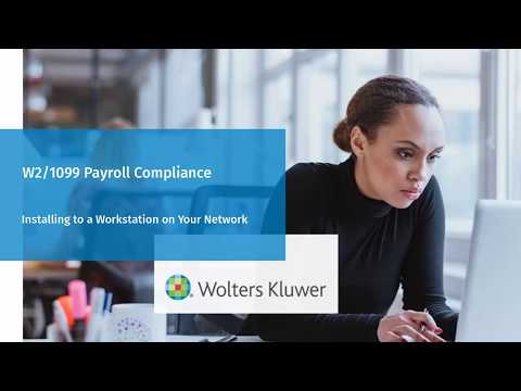 W2/1099 Payroll Compliance: Installing To or Updating Network Workstations