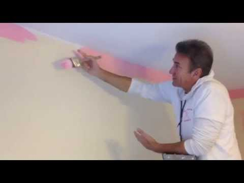 Perfect cuts. How to cut walls. Painting a ceiling line