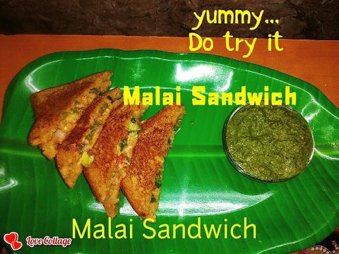 Malai Sandwich recipe in hindi by simul II VEG SANDWICH USING MILK CREAM