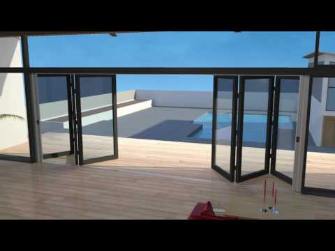 Retractable Fly Screens For Double BiFold Doors - Awesome Animation!