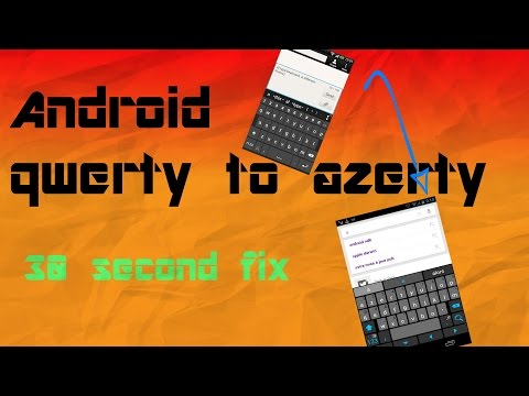 Android: QWERTY to AZERTY
