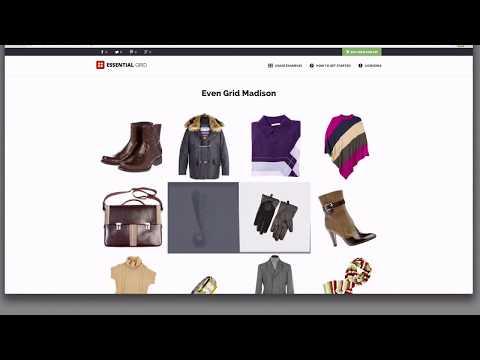 Essential Grid WordPress Plugin - Some Predefined Skins & Skin Editor Run Through