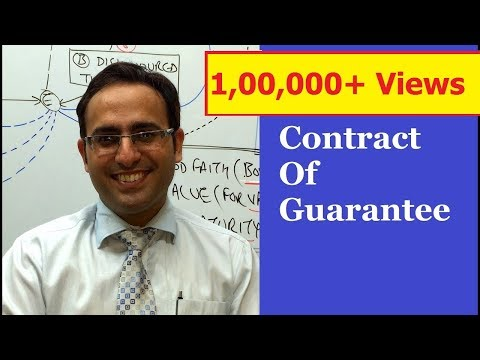 Introduction to Contract of Guarantee VIDEO || Business Law Lectures for CA,CS,CMA