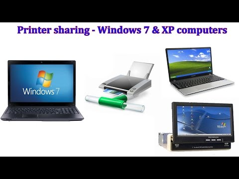 How to share a Canon printer between Windows 7 and XP computers in the Network
