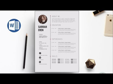 Clean CV Template Design in Microsoft Word +Docx file