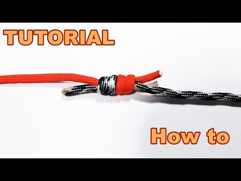 How to tie two pieces of Paracord / Rope together ( Tutorial )